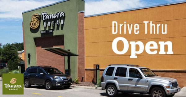 Panera Bread Drive Thru Open